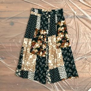 90s Floral Patchwork Skirt